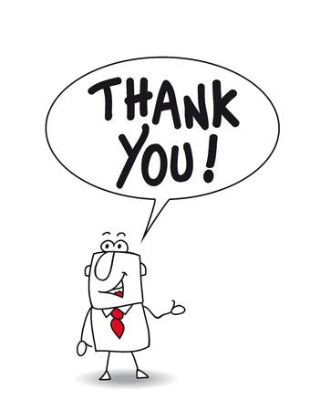 ジョー、ビジネスマンは感謝を言葉します。