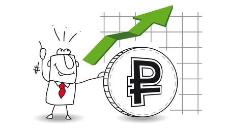 stock trader: fluctuaci�n del rublo hasta