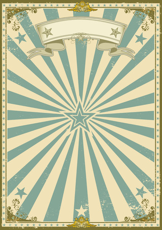 um cartaz do vintage com raios de sol para a sua publicidade. Ilustração