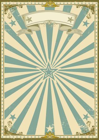 fondo de circo: un cartel de la vendimia con los rayos solares para su publicidad. Vectores