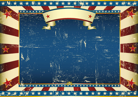 An american vintage horizontal background for a certificate Vector