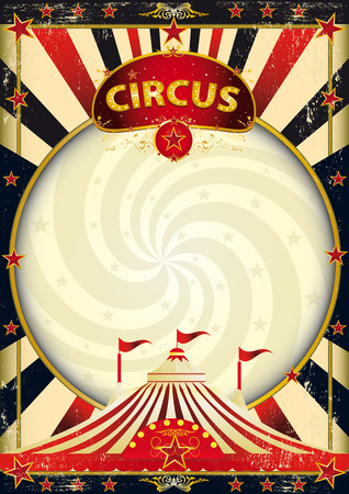A vintage circus background with a texture for your entertainment Vectores