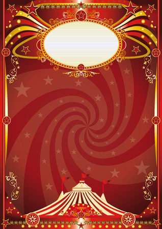 performing arts event: A retro circus background with a vortex shape for your entertainment