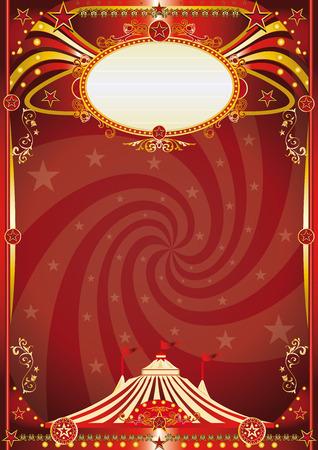 Un fond de cirque rétro avec une forme de vortex pour votre divertissement Banque d'images - 35756757