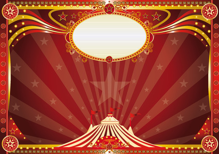 circus stage: An horizontal circus background for your show.