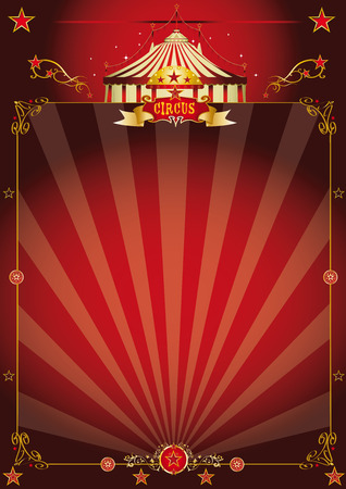 carnival border: A vintage circus background with sunbeams for your entertainment