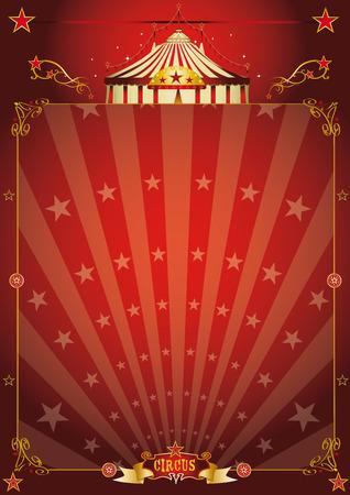 circo: Un fondo de circo de la vendimia con los rayos de sol para tu entretenimiento