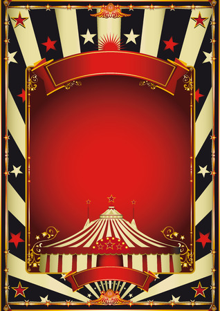 carnival: A vintage circus background with a red frame for your entertainment