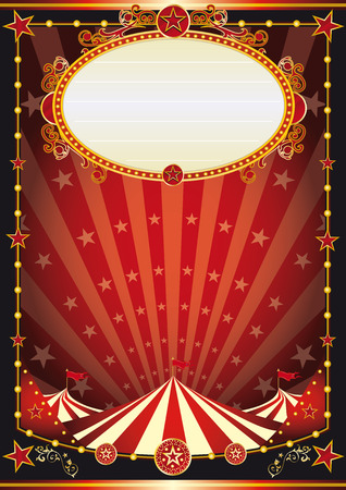 A vintage circus background with sunbeams and stars for your entertainment Illustration