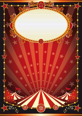 vintage: Um fundo do circo do vintage com raios de sol e estrelas para o seu entretenimento Ilustração