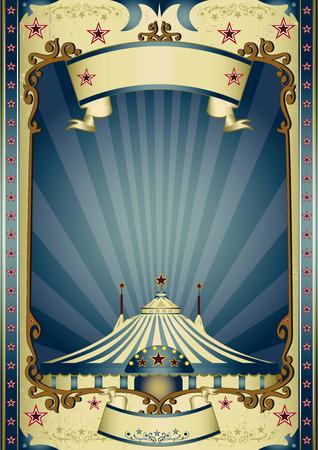 ročník: Vinobraní cirkus pozadí s paprsky pro vaši zábavu Ilustrace