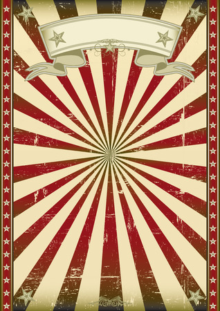 A vintage background with red sunbeams for you Vector