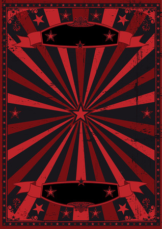 fondo de circo: Un fondo oscuro del grunge y retro para un cartel