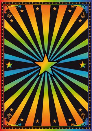 A retro background - disco theme, yeah Vector