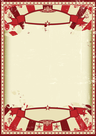 circus background: A vintage and retro grunge background with a large empty frame for a poster