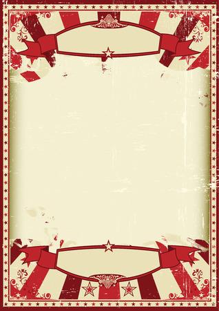 fondo de circo: Un fondo grunge vintage y retro con un gran marco vac�o para un cartel Vectores