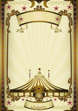 circus stage: A vintage circus background with sunbeams for your entertainment
