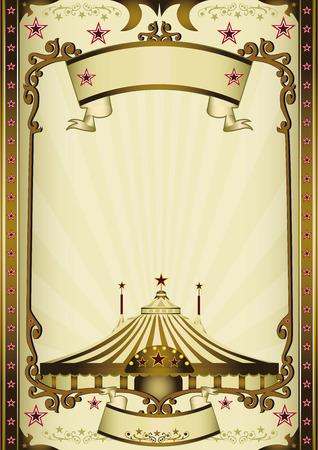 fondo de circo: Un fondo de circo de la vendimia con los rayos de sol para tu entretenimiento