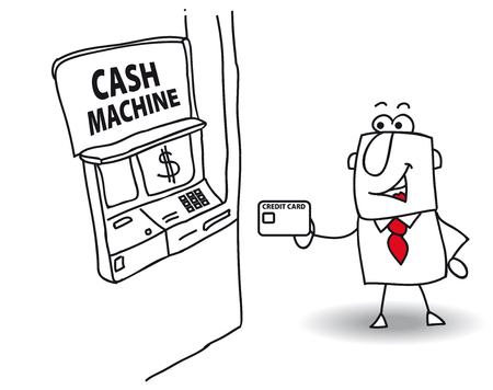 joe: joe withdraws money at the cash machine