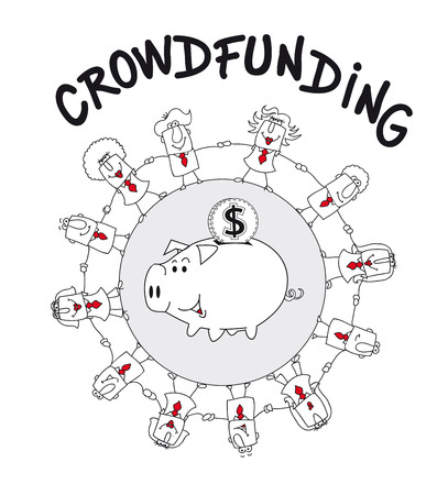 communication metaphor: Crowd funding is a solution :  its the funding a project or venture by raising many small amounts of money from a large number of people via internet.