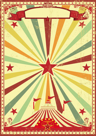 grained: A vintage and retro background with a big top circus for your entertainment Illustration