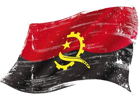 angola: A grunge flag of Angola in the wind for you