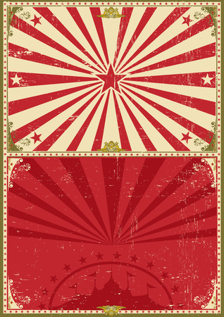 festival poster: a circus vintage poster for your entertainment