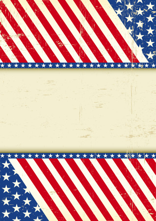united states flag: A grunge poster of America for your message