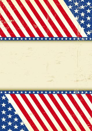 bandera estados unidos: Un cartel del grunge de Am�rica para su mensaje