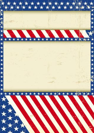 american poster: Un cartel de grunge para su evento