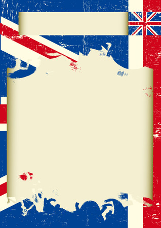 grunge union jack: A background with the Union Jack flag and a frame for your message Illustration