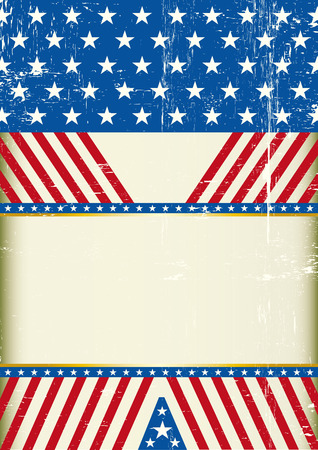 spangled: A grunge american background with a large empty space for your message