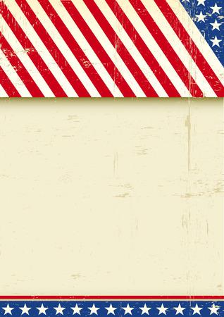 american poster: Un saludo grunge cartel americano para usted Vectores