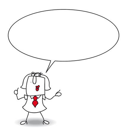 converse: Karen spricht. schreiben Sie Ihre Nachricht in der Blase Rede