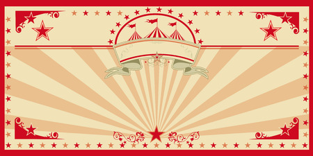 An invitation card for your circus company. Stock Illustratie