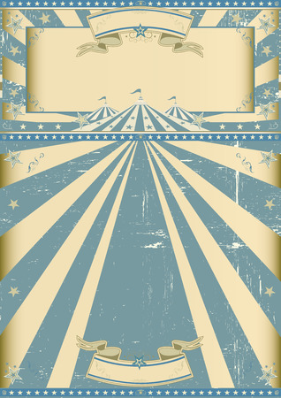 Ein Grunge-Zirkus Vintage Poster für Ihre Zirkusunternehmen. Standard-Bild - 37387576