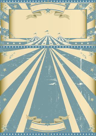 circo: Un cartel del vintage del grunge de circo para su compa��a de circo. Vectores
