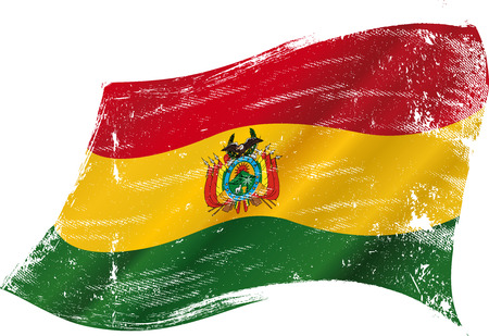 A grunge flag of Bolivia in the wind flag for you Vector