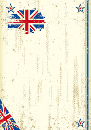 grunge union jack: A vintage english background with a texture for your advertising