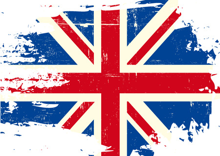An english flag with a grunge texture Imagens - 37496152