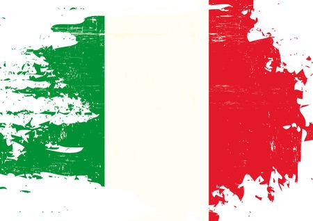 グランジ テクスチャでイタリアの旗