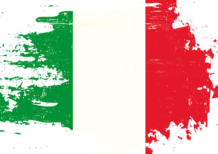 An italian flag with a grunge texture