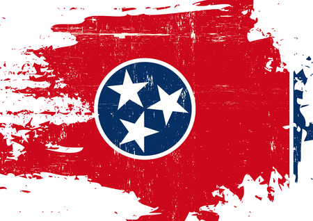 grained: A flag of Tennessee with a grunge texture