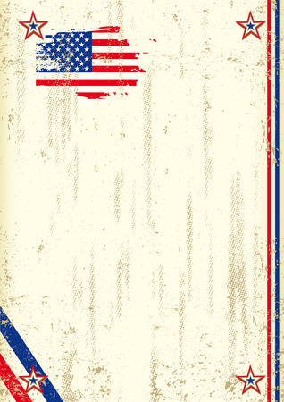 star spangled: A vintage background with a flag of  USA and a texture for your advertising