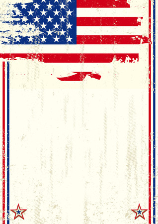 publicity: A vintage background with a flag of USA and a texture for your advertising