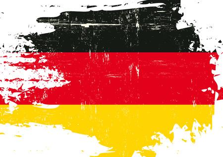Eine Flagge von Deutschland mit einer Grunge-Textur Vektorgrafik