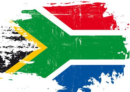 le cap: Una bandera de Sudáfrica con una textura grunge
