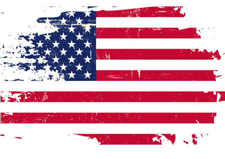 us grunge flag: An american flag with a grunge texture