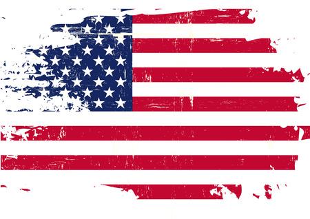 Una bandiera americana con una texture grunge Archivio Fotografico - 37780898