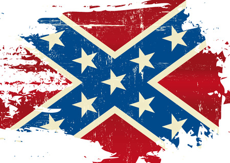A Civil War flag with a grunge texture